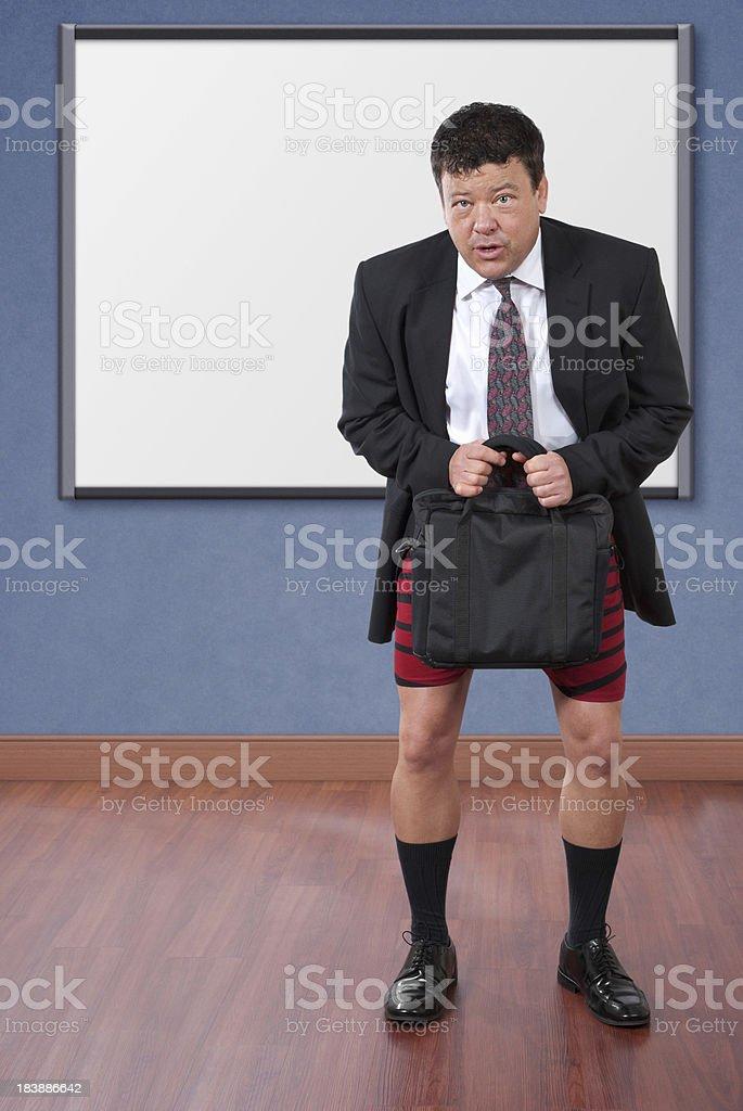 Businessman Forgot His Pants stock photo