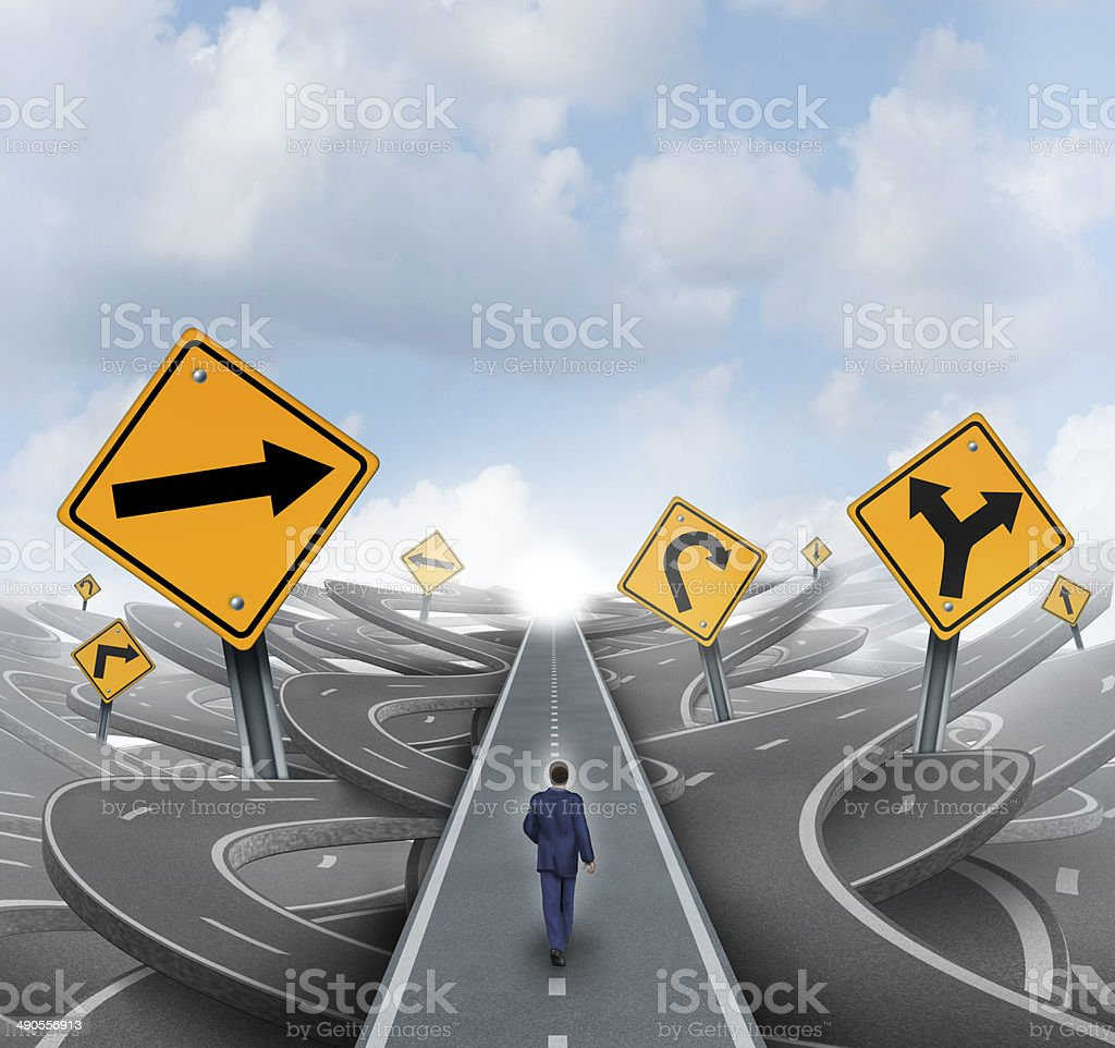 Businessman Forward Path stock photo