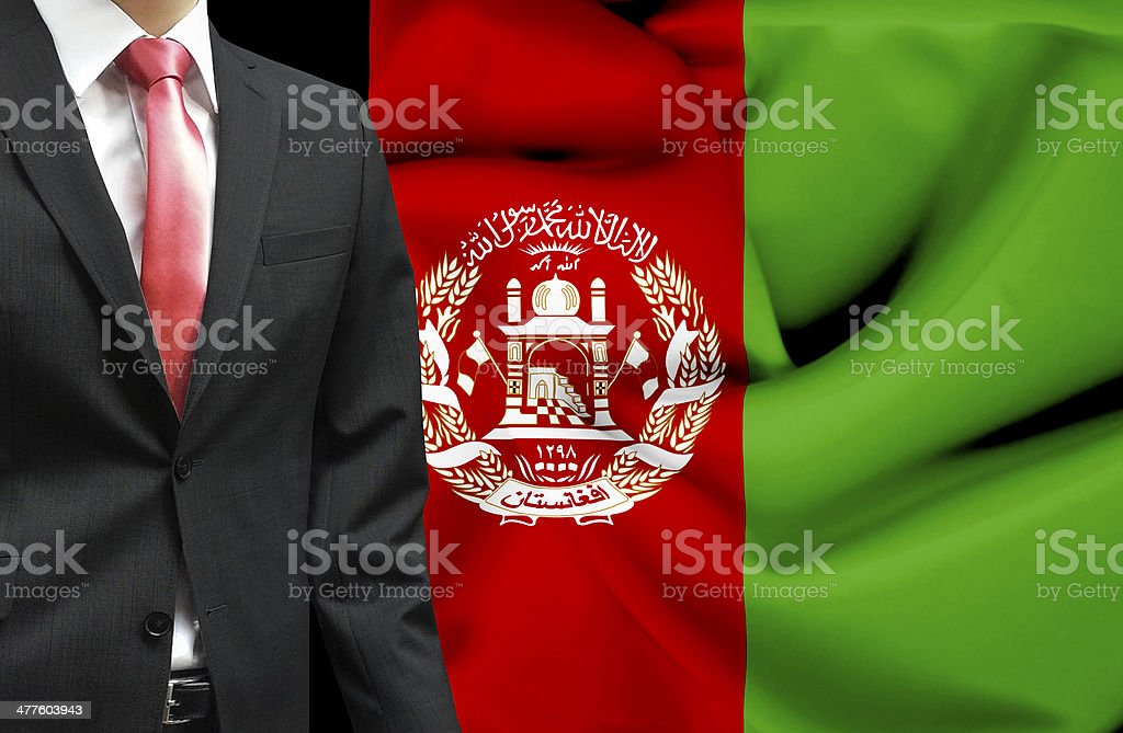 Businessman from Afghanistan conceptual image stock photo