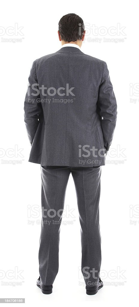 Businessman from behind stock photo