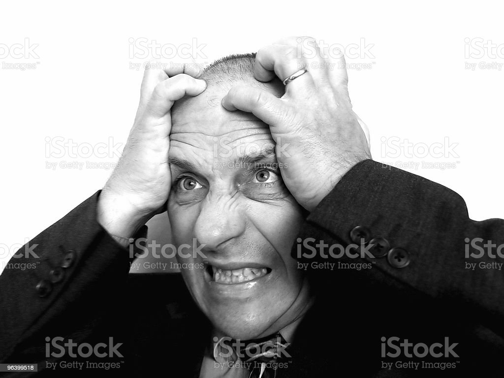 Businessman Frustrated at Work - Royalty-free Adult Stock Photo