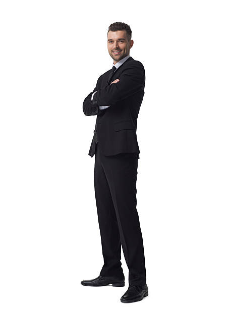 Businessman full lenght isolated on white background ストックフォト