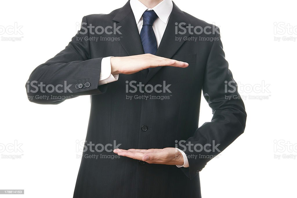 Businessman gesturing royalty-free stock photo