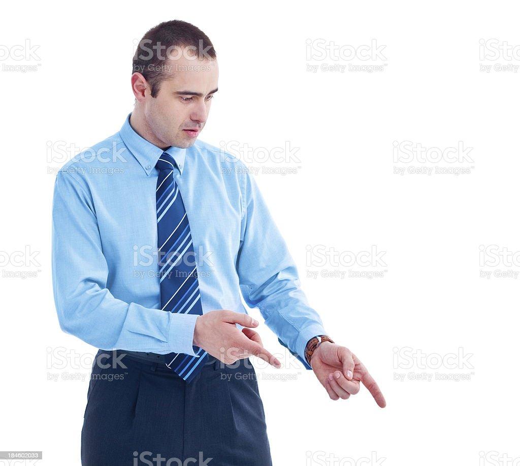 Businessman gesturing royalty-free stock photo
