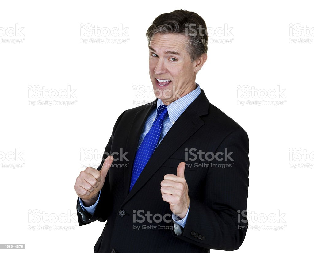 Businessman gesturing this guy stock photo