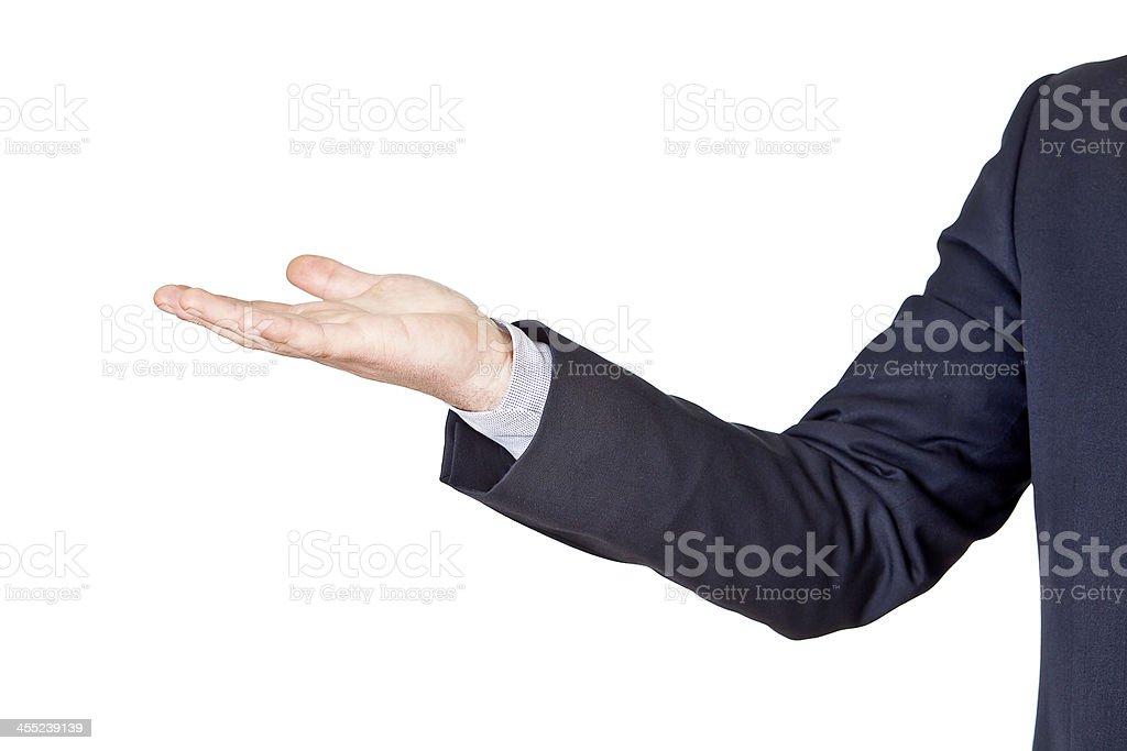 Geschäftsmann Gestikulieren seine hand – Foto