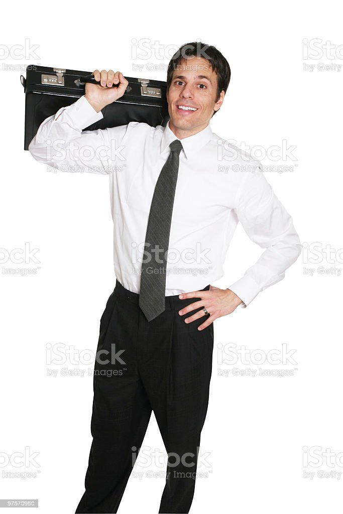 Businessman gets ready royalty-free stock photo