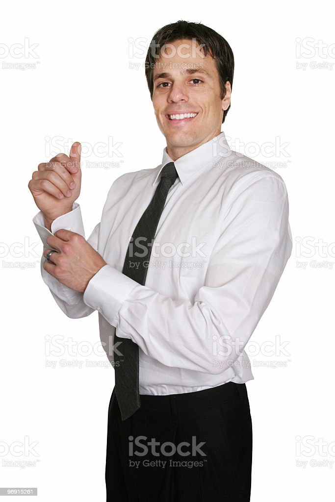 Businessman getting ready royalty-free stock photo