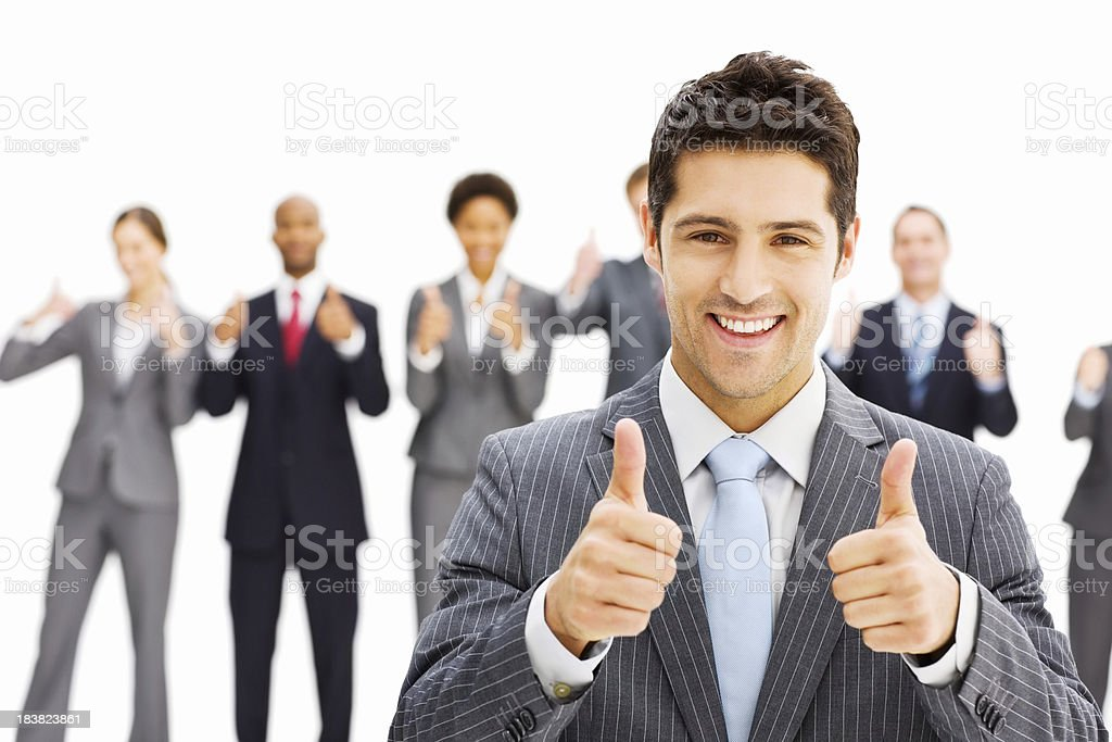 Businessman Giving a Thumbs Up royalty-free stock photo