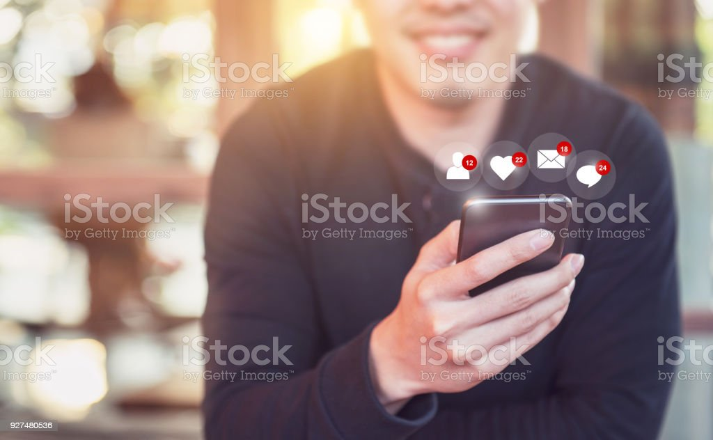 Businessman giving rating with happy icon, Customer satisfaction survey concept Businessman giving rating with happy icon, Customer satisfaction survey concept Adult Stock Photo