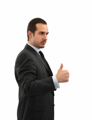 Businessman Giving Thumbs Up Stock Photo - Download Image Now