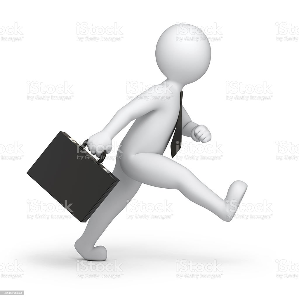 businessman goes to work stock photo