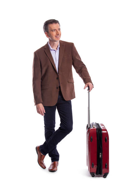 Businessman going on a Business Trip stock photo