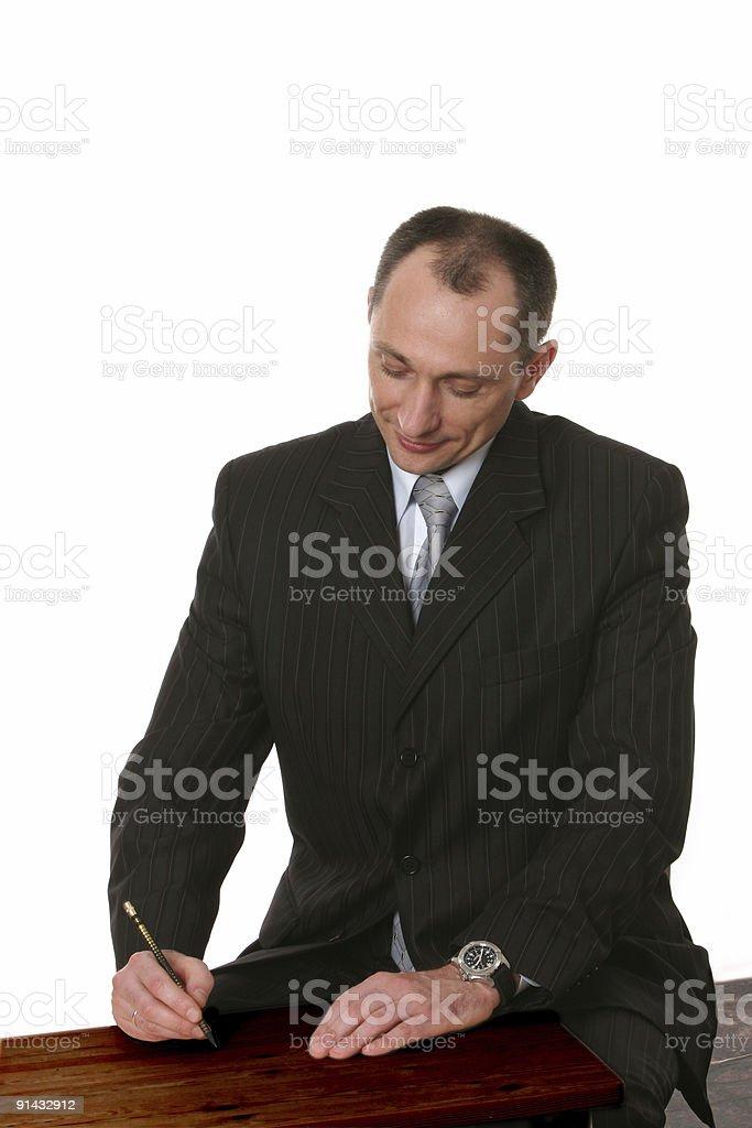 businessman going to write something royalty-free stock photo