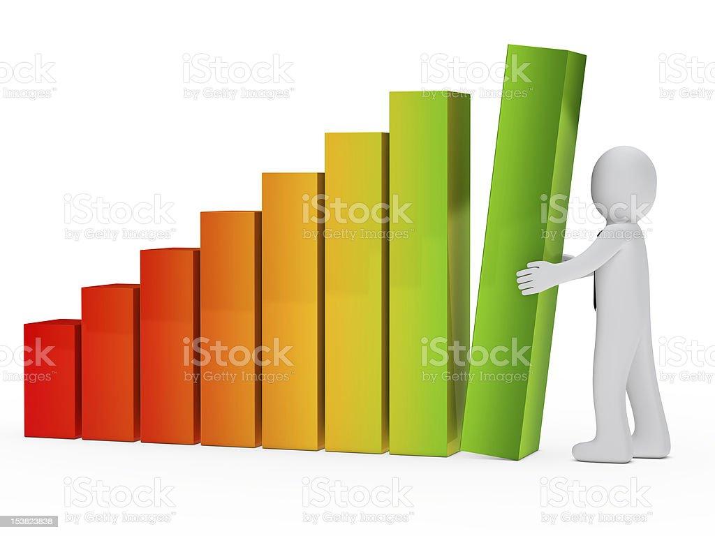 businessman graph stock photo