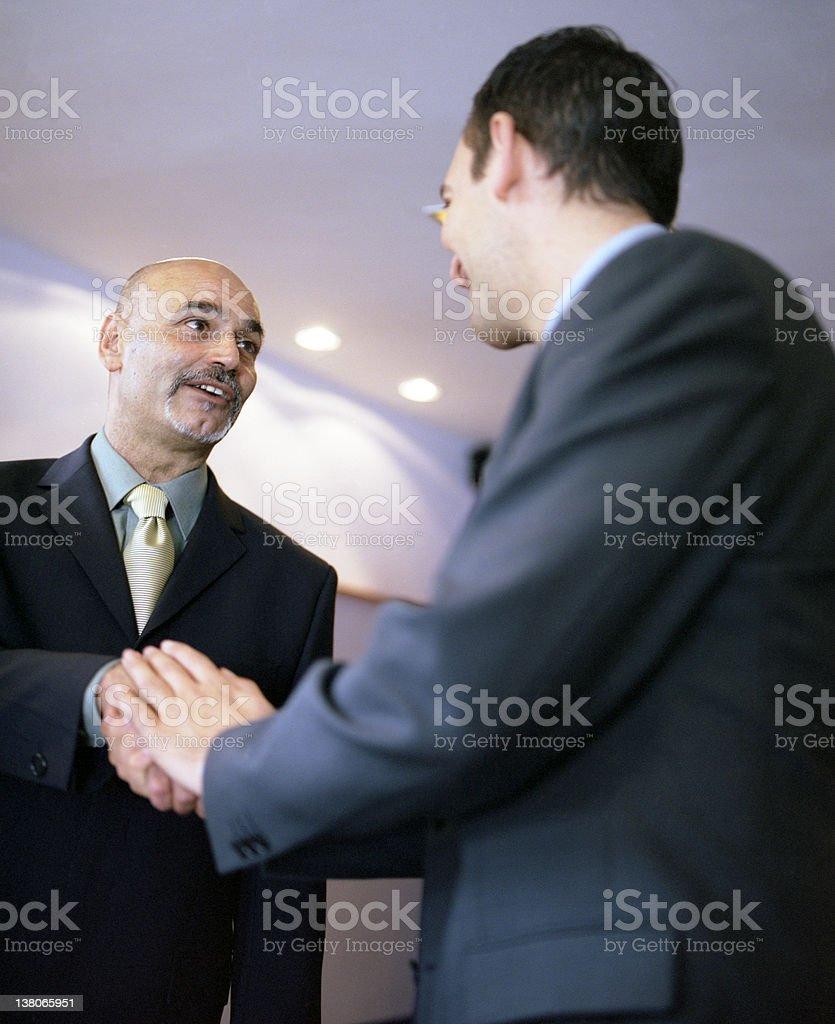 Businessman Greeting royalty-free stock photo