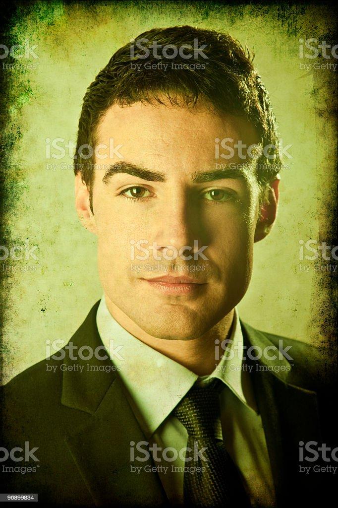 Businessman grunge portrait royalty-free stock photo