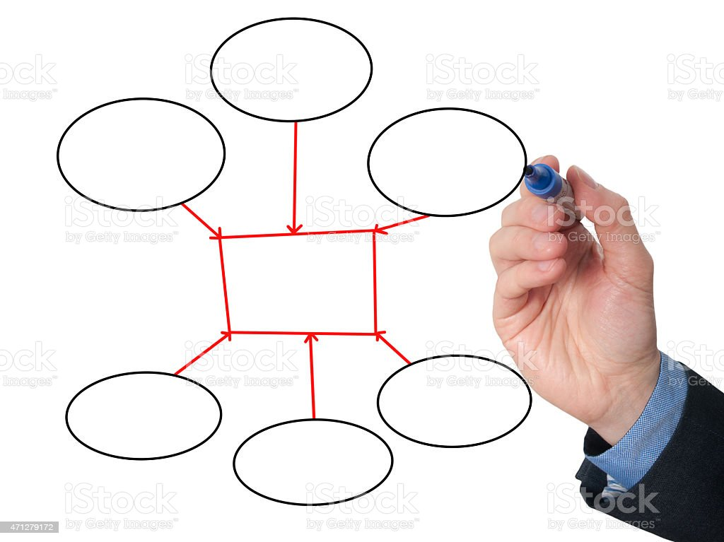 businessman hand drawing empty diagram on virtual whiteboard stock rh istockphoto com
