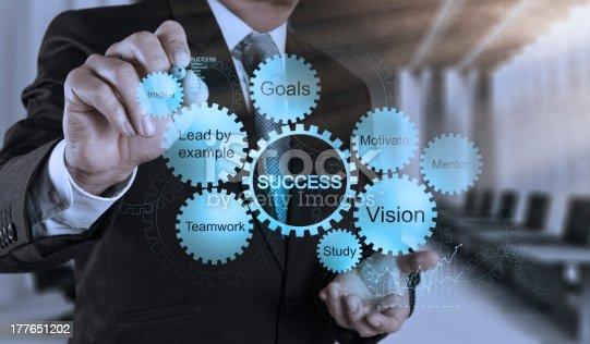 istock businessman hand draws business success chart 177651202