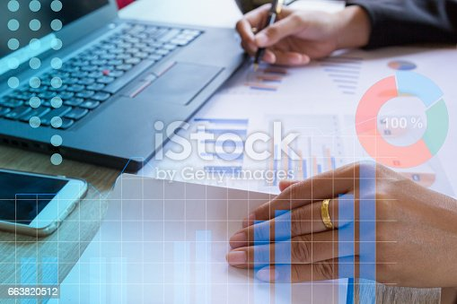 istock Businessman hand open notebooks 663820512