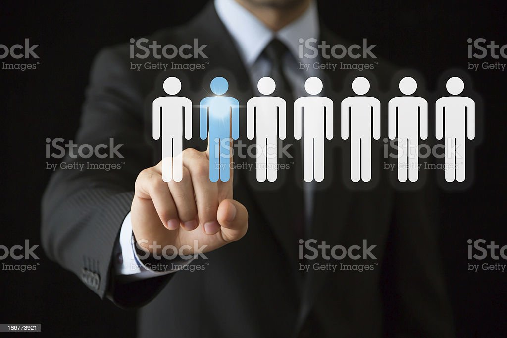 Businessman hand stock photo