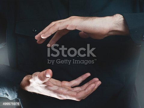 Businessman hand presenting (Click for more)