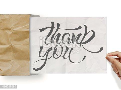 513601840 istock photo businessman hand show design word THANK YOU 486286585