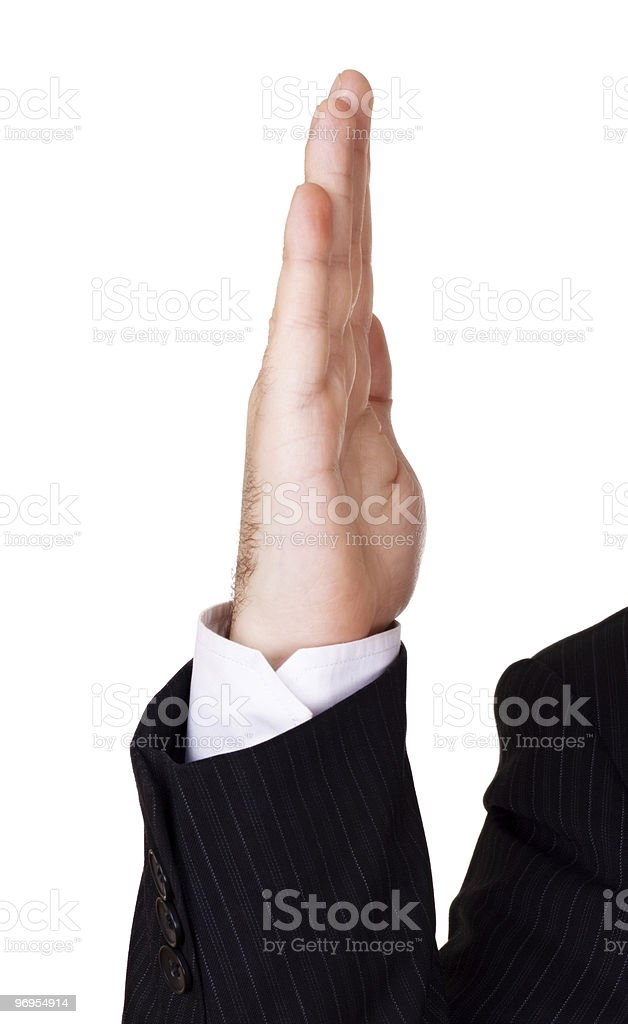 businessman hand up royalty-free stock photo