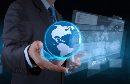 Businessman Hand Using New Technology Stock Photo - Download Image Now