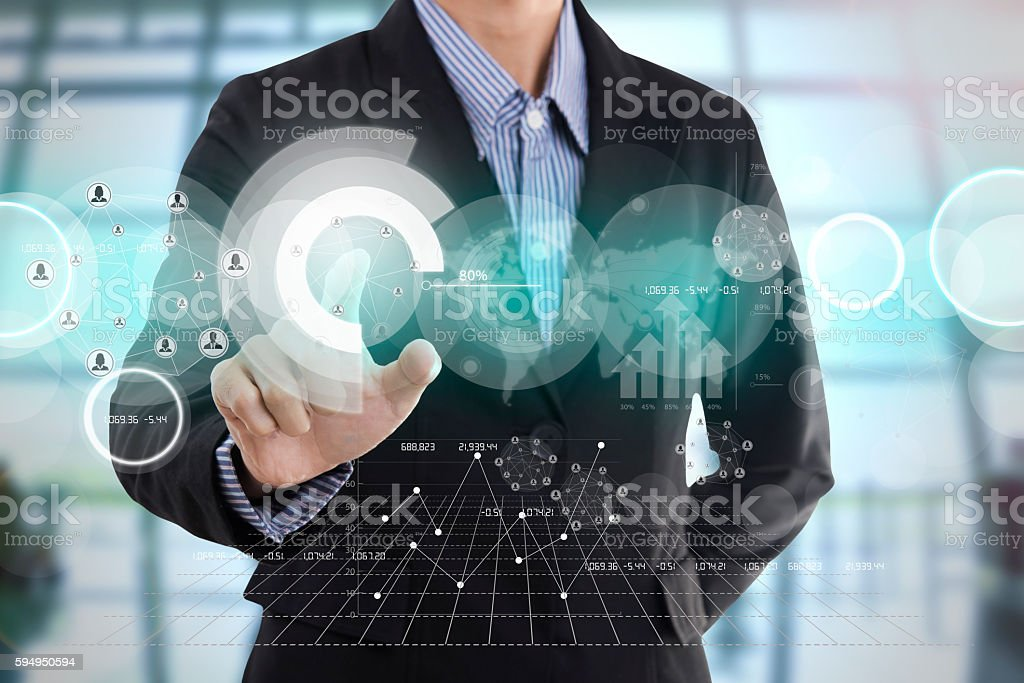 businessman hand with drawing  graph chart and business strategy – Foto
