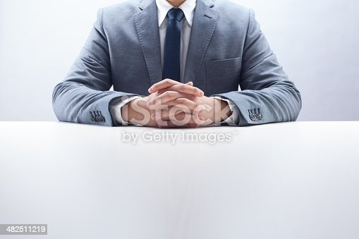 istock Businessman Hands Folded 482511219