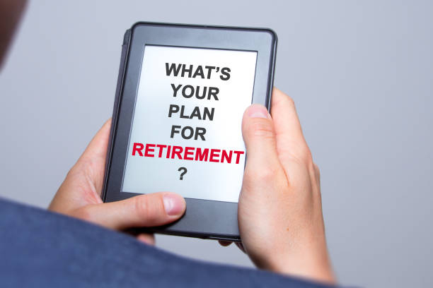 Businessman hands holding tablet with Whats Your Plan for Retirement? sign. Business concept. Stock photo Businessman hands holding tablet with Whats Your Plan for Retirement? sign. Business concept. Stock photo 40 kilometre stock pictures, royalty-free photos & images
