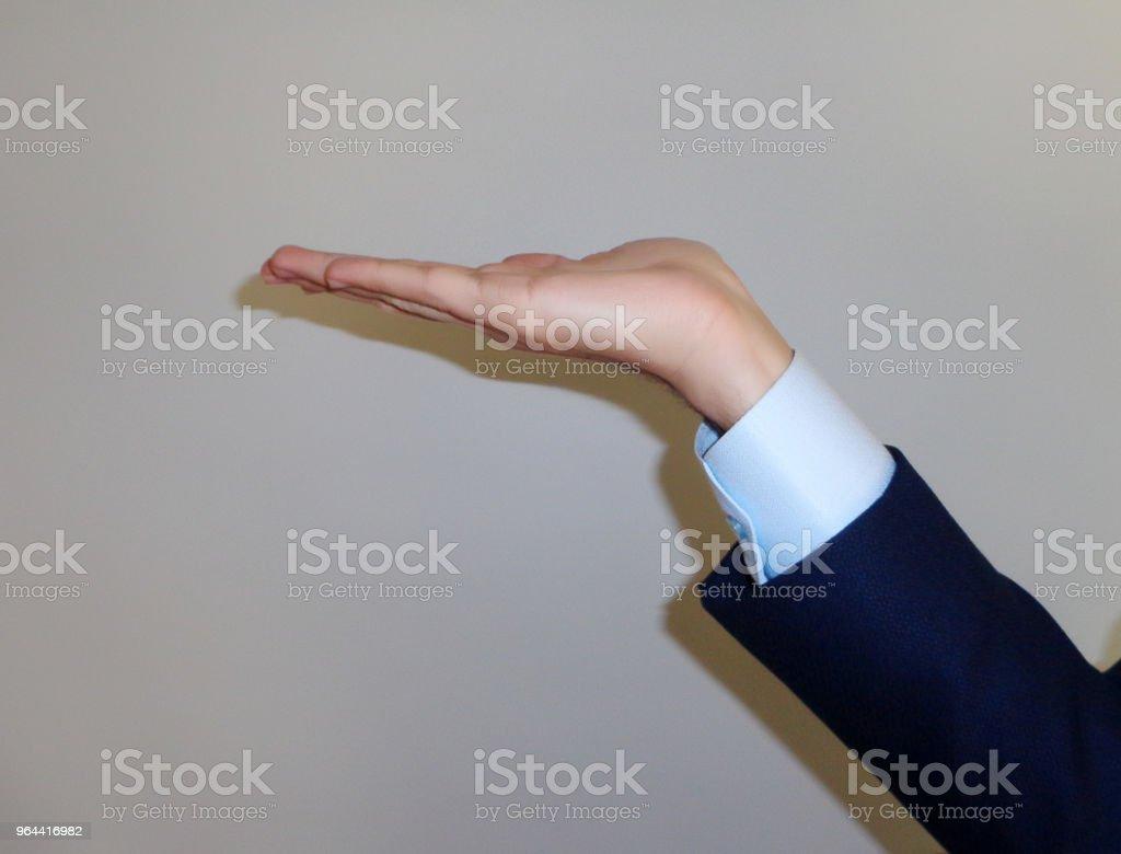 Empresário as mãos - Foto de stock de Abrindo royalty-free