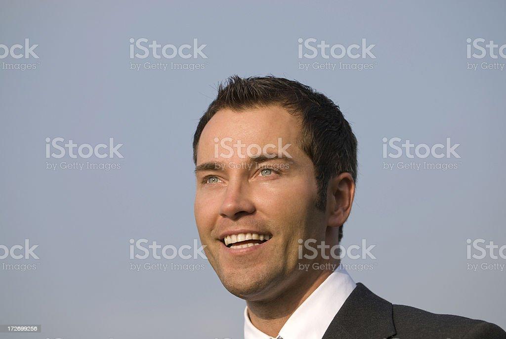 businessman happy royalty-free stock photo