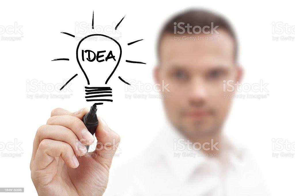 Businessman has Idea royalty-free stock photo