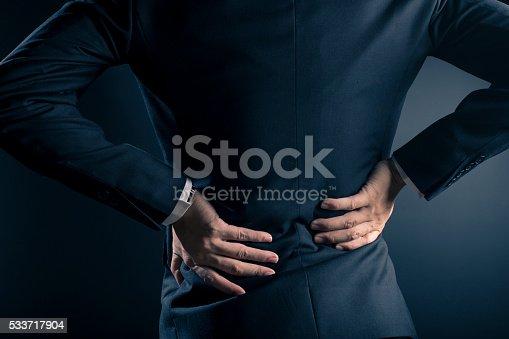 537234318istockphoto Businessman has waist ache 533717904