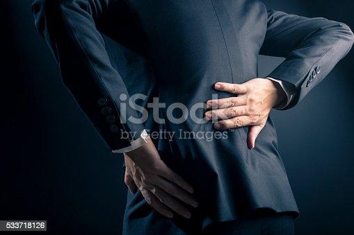 537234318istockphoto Businessman has waist ache 533718126