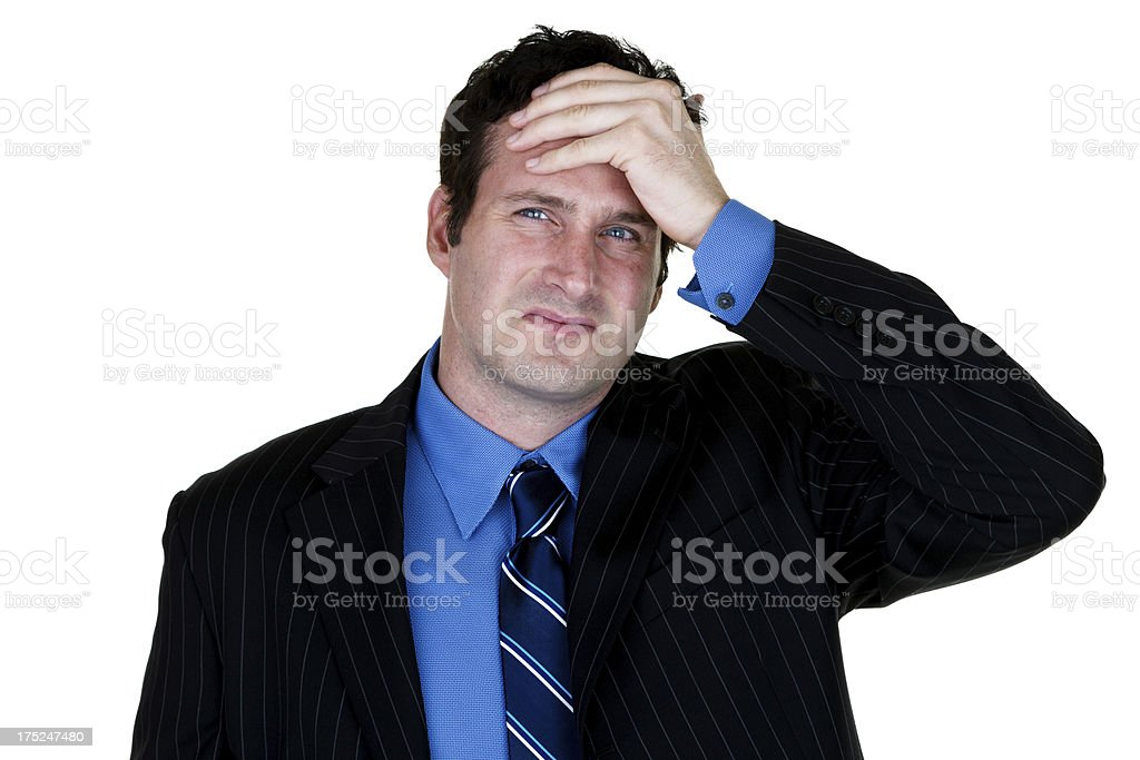Businessman having a bad day royalty-free stock photo