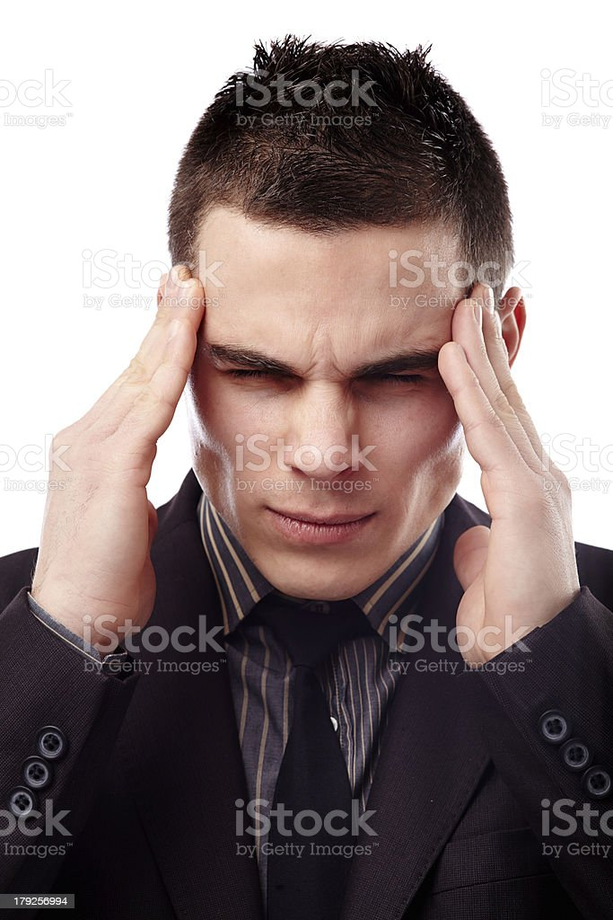 Businessman having a headache royalty-free stock photo