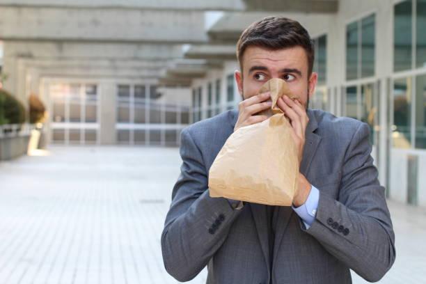 Empresário, tendo um ataque de pânico - foto de acervo