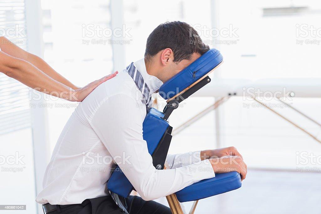 Geschäftsmann, massage – Foto
