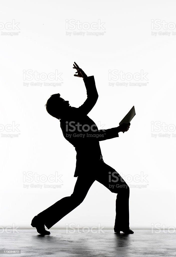 Businessman Having Good Idea On A White Background stock photo
