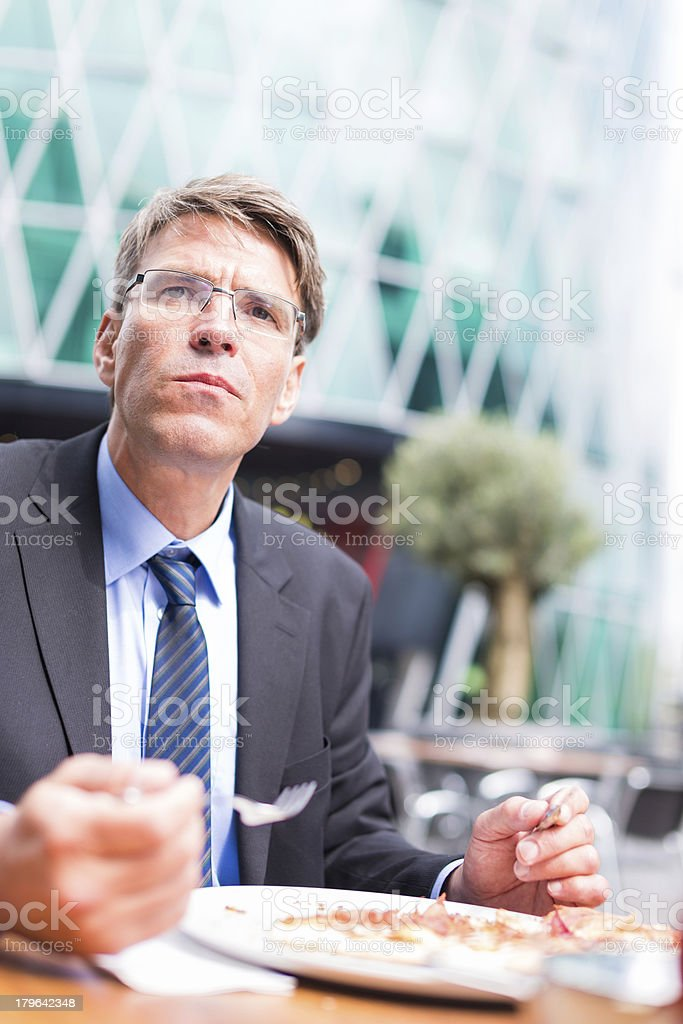businessman having lunch royalty-free stock photo