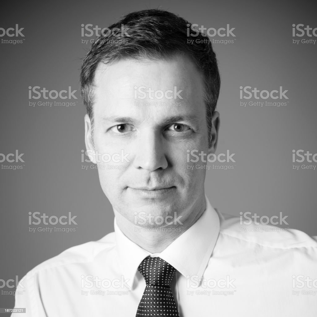 Businessman headshot stock photo