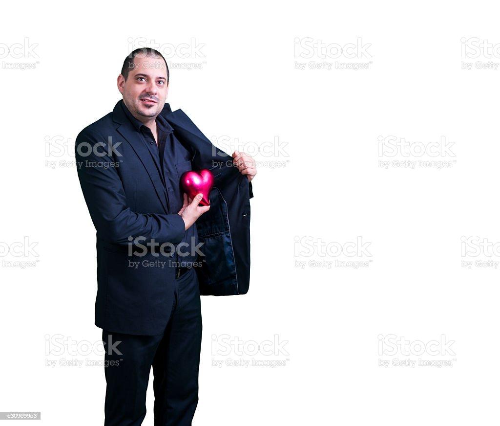 businessman heart stock photo