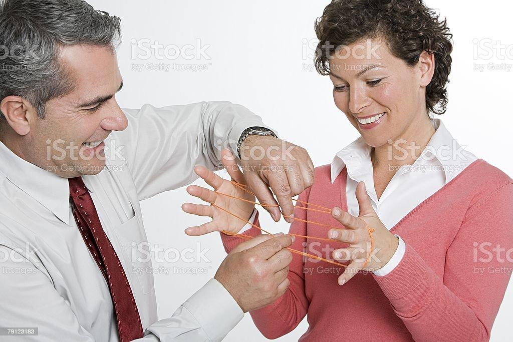 Businessman helping colleague 免版稅 stock photo