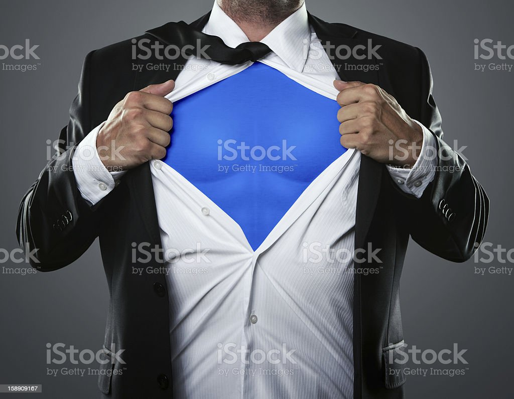 Businessman hero stock photo