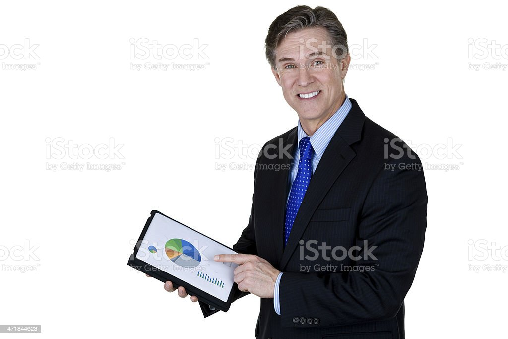Businessman holding a report royalty-free stock photo