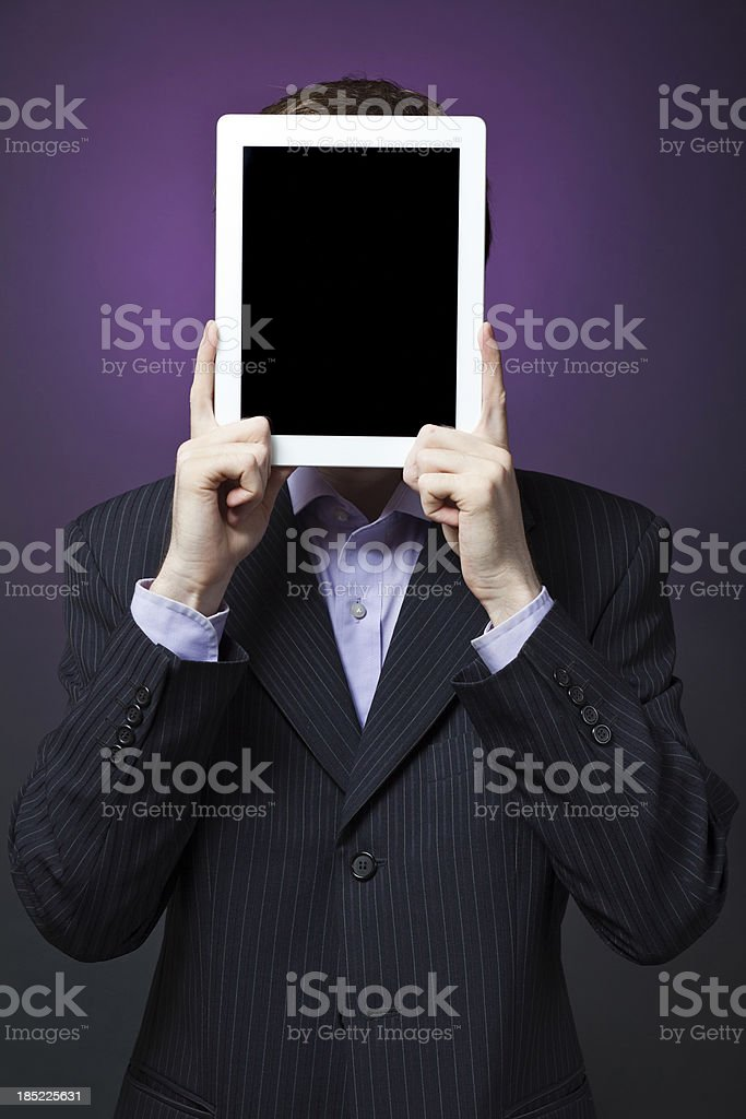 Businessman Holding Digital Tablet royalty-free stock photo