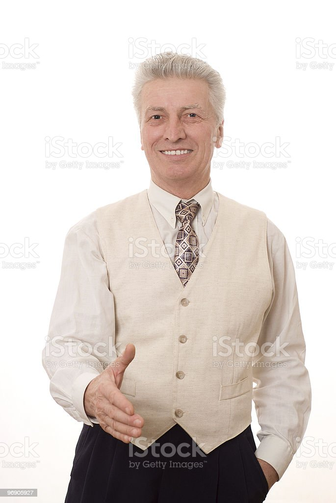 businessman holding his thumb up royalty-free stock photo